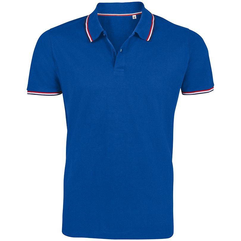Рубашка поло мужская PRESTIGE MEN ярко-синяя, размер M рубашка поло женская prestige women ярко синяя размер m