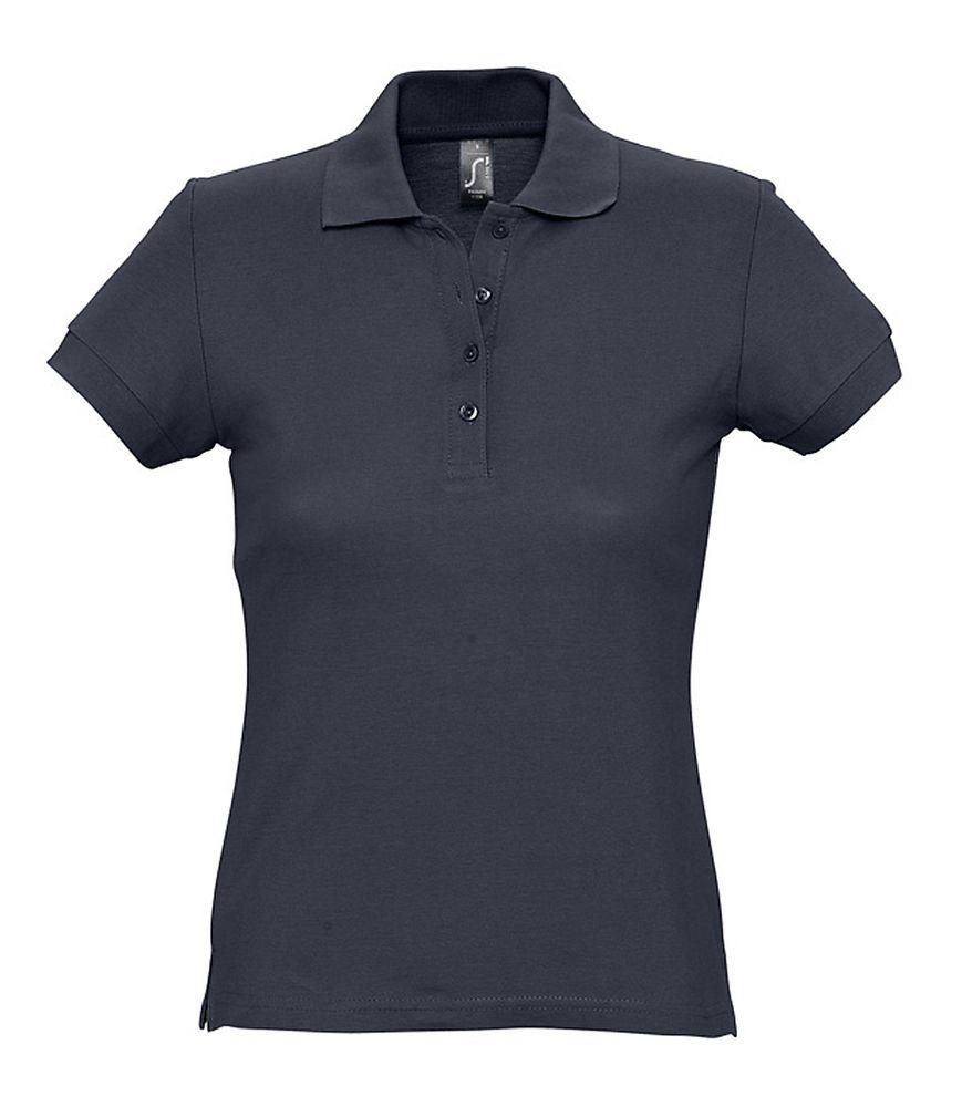 Рубашка поло женская PASSION 170 темно-синяя, размер XL куртка женская oodji ultra цвет темно бежевый 10203059 1 32754 3500n размер 36 42 170