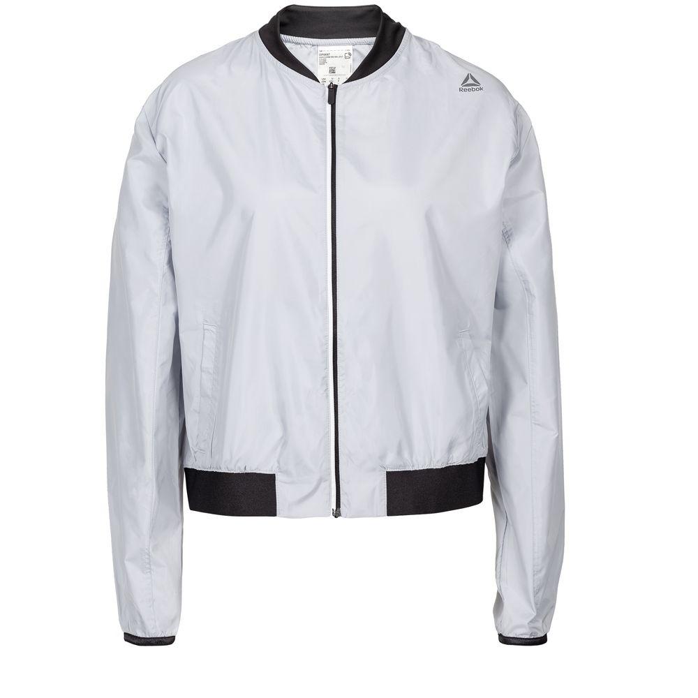 Куртка женская WOR Woven, серая, размер M футболка мужская reebok wor c graphic tee цвет серый ay2245 размер m 48 50