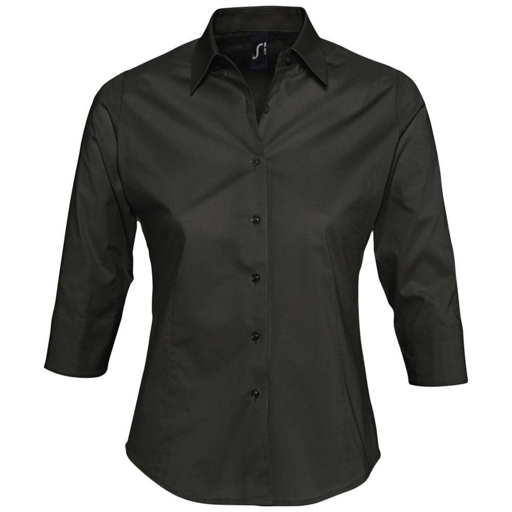 Рубашка женская с рукавом 3/4 EFFECT 140 черная, размер S vili s 3 4 4 3 black