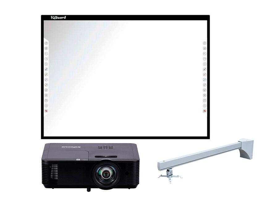 Интерактивный комплект DVT T087 + Infocus IN114BBST + Wize WTH140