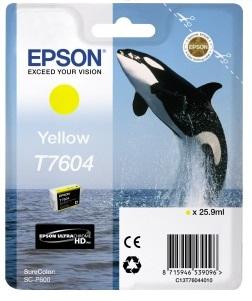 Фото - Контейнер с желтыми чернилами Epson T7604 для SC-P600 (C13T76044010) штора для ванной wasserkraft sc 10101 180x200