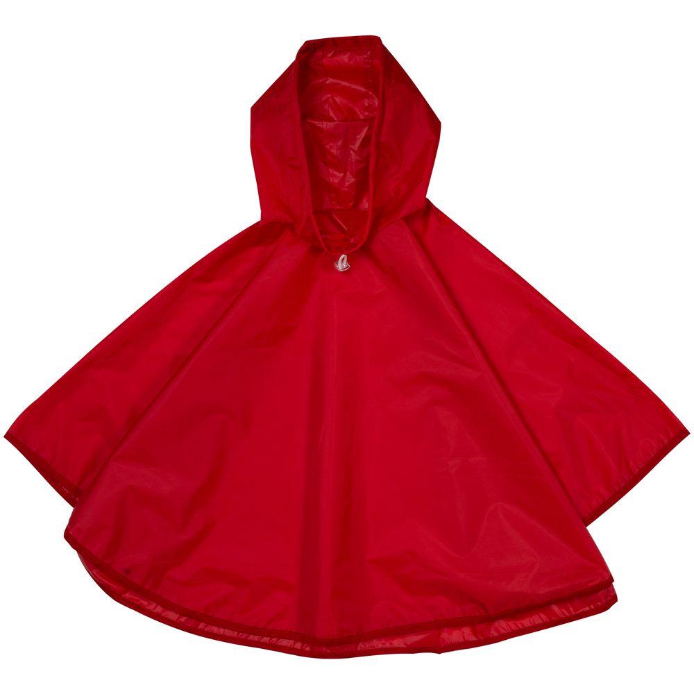 дождевик red fox poncho plus цвет серый 13985 размер универсальный Дождевик детский Rainman Poncho Kids красный, 4-7 лет