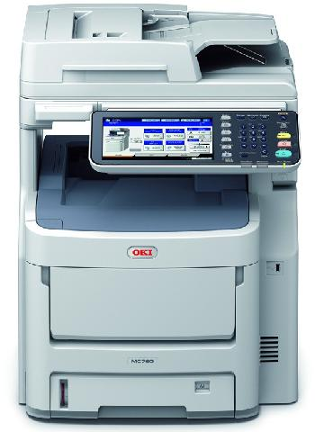 OKI MC780dfnfax мфу panasonic kx mb2137rub ч б a4 26ppm 2400x600dpi автоподатчик факс ethernet usb бело черный