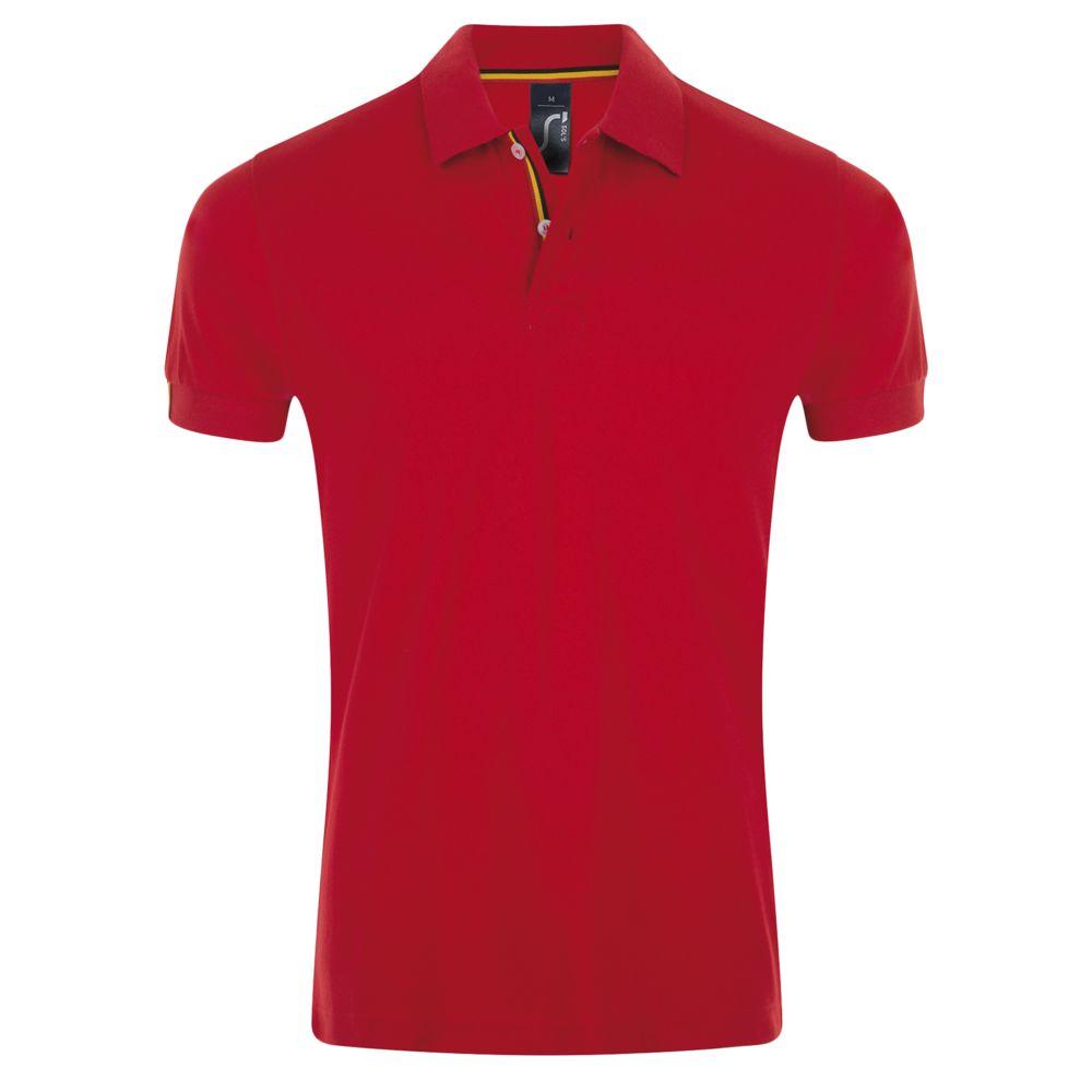 Рубашка поло мужская PATRIOT 200, красная с черным, размер L недорого