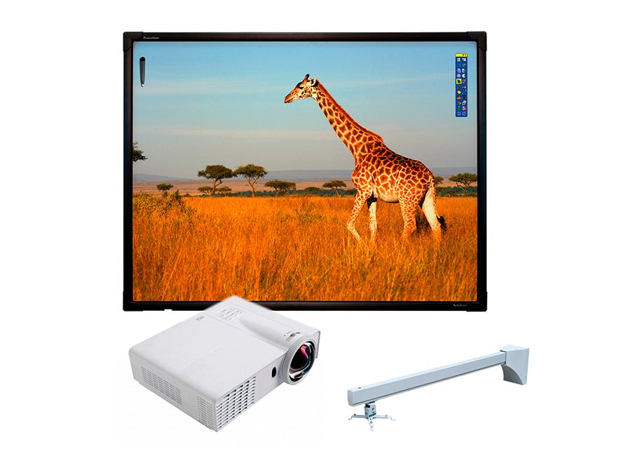 "Интерактивная доска Promethean ActivBoard Touch 78"" Dry Erase + проектор Infocus INV30 + крепление Wize WTH140"