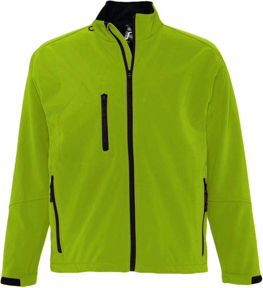 Куртка мужская на молнии RELAX 340 зеленая, размер XL куртка мужская на молнии relax 340 белая размер xl