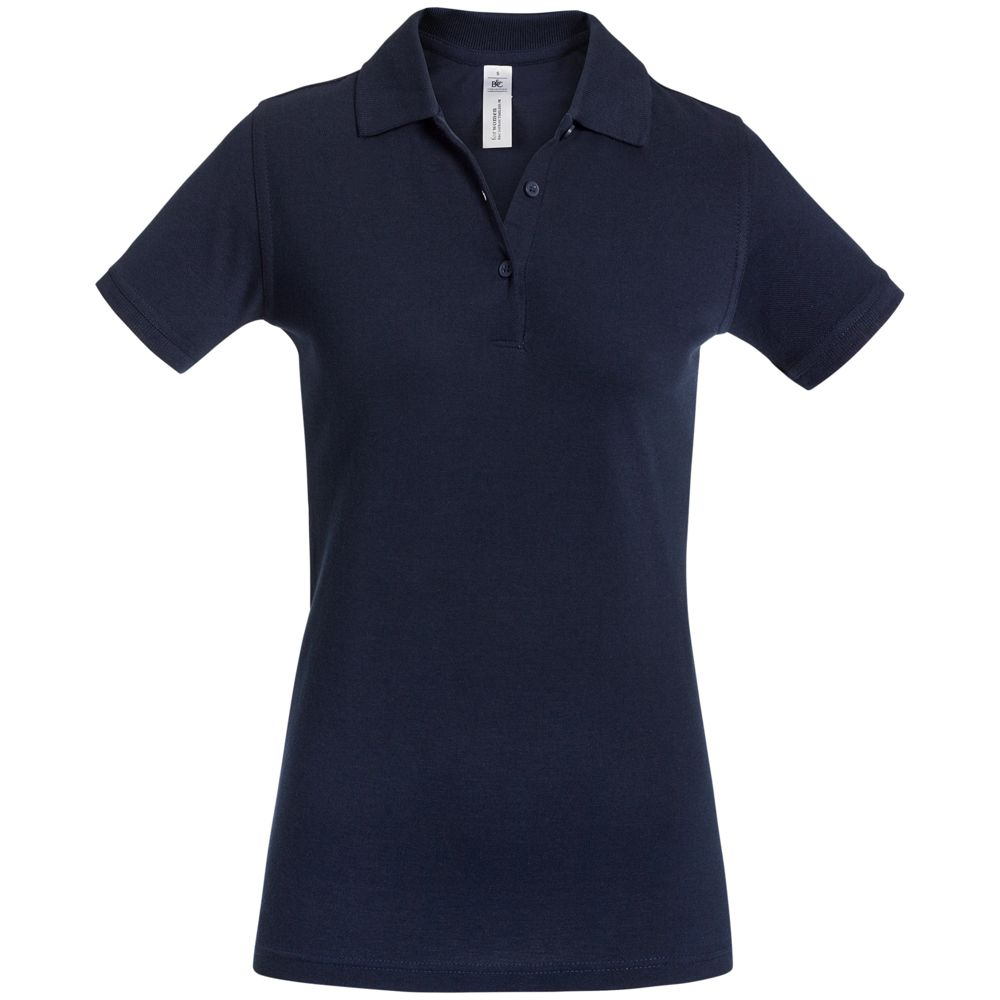 Рубашка поло женская Safran Timeless темно-синяя, размер L