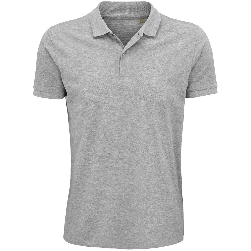 Рубашка поло мужская Planet Men, серый меланж, размер 3XL рубашка поло мужская planet men темно зеленая размер 3xl