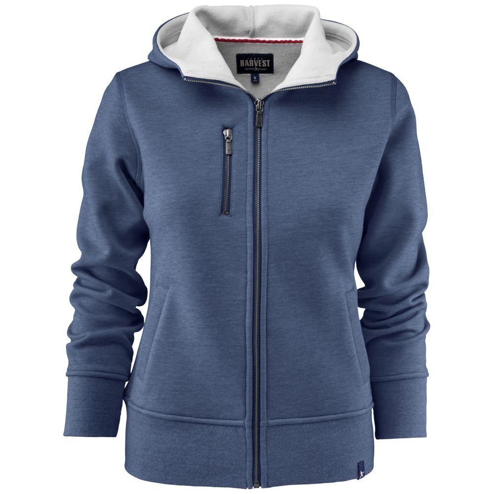 Толстовка женская PARKWICK синий меланж, размер S толстовка женская nike цвет темно синий размер s