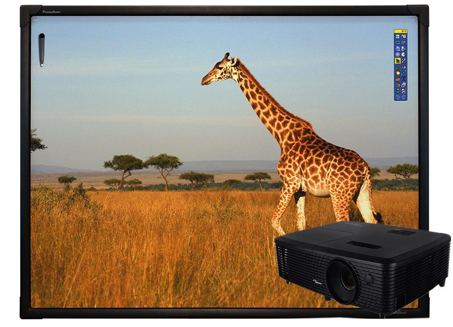 Фото - Интерактивная доска Touch 78 10 касаний, ПО ActivInspire в комплекте с проектором Optoma DX349+ и потолочным креплением вилюха ю ред беляночка и розочка читаем по слогам сказка с раскраской