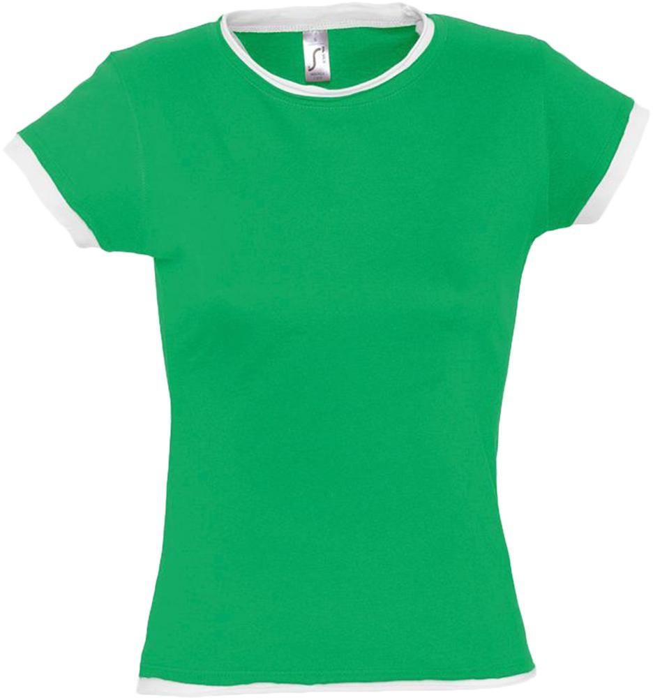 цена на Футболка женская MOOREA 170 ярко-зеленая с белой отделкой, размер S