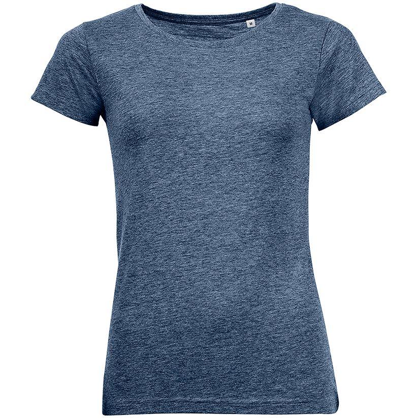 Футболка женская MIXED WOMEN темно-синий меланж, размер S
