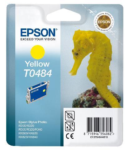 Фото - Картридж с желтыми чернилами Epson T0484 для R200, R300 (C13T04844010) картридж с желтыми чернилами epson t0824 c13t11244a10