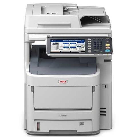 OKI MC770dnfax мфу panasonic kx mb2137rub ч б a4 26ppm 2400x600dpi автоподатчик факс ethernet usb бело черный