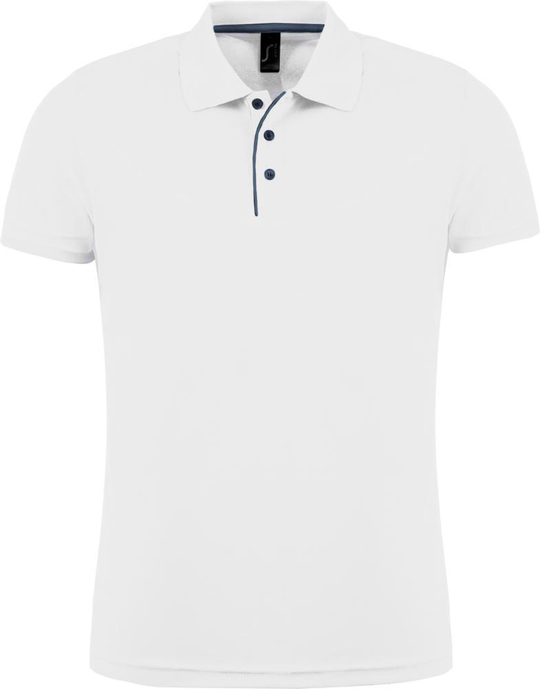 Рубашка поло мужская PERFORMER MEN 180 белая, размер S