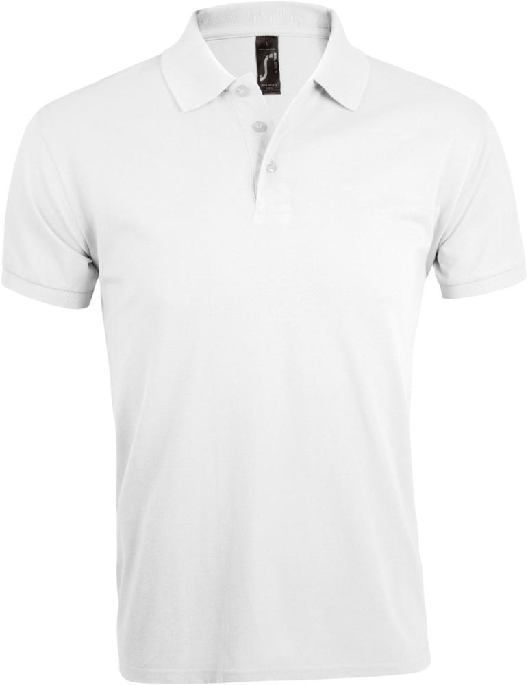 Рубашка поло мужская PRIME MEN 200 белая, размер 3XL фото