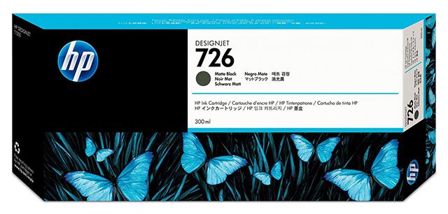 HP DesignJet 726 Matte Black 300 мл (CH575A) картридж струйный hp 771c b6y32a хроматический красный для designjet z6200 printer series 775 мл 3 шт в упаковке