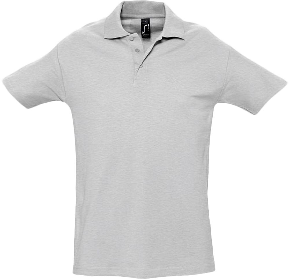цена Рубашка поло мужская SPRING 210 светло-серый меланж, размер L онлайн в 2017 году