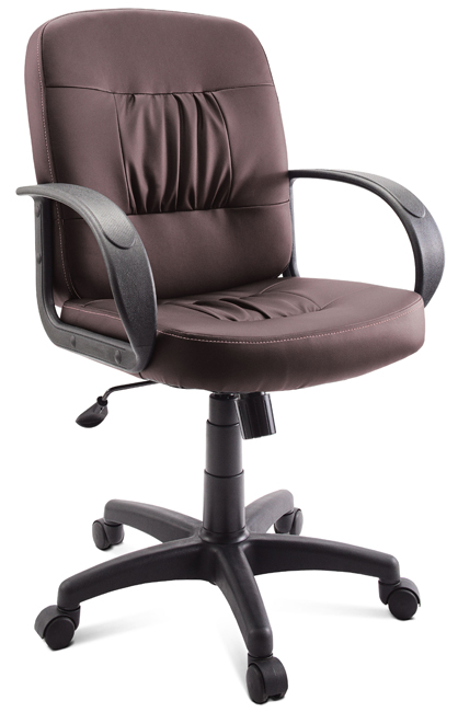 Кресло руководителя Гелеос Эксперт, коричневое