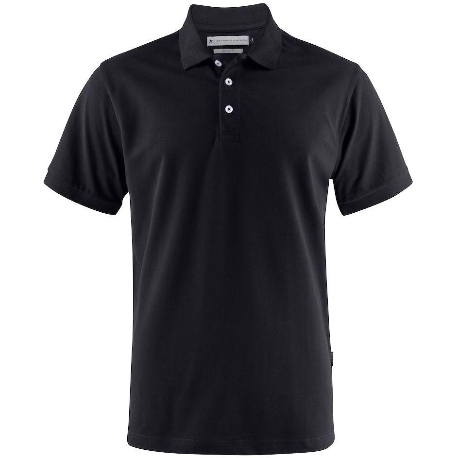 Рубашка поло мужская Sunset черная, размер S фото