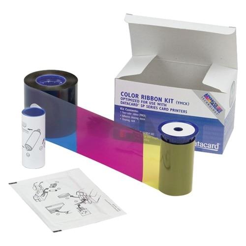 цены Набор для печати: полупанельная лента YMCKT GO GREEN, чистящий ролик и карта 535000-004