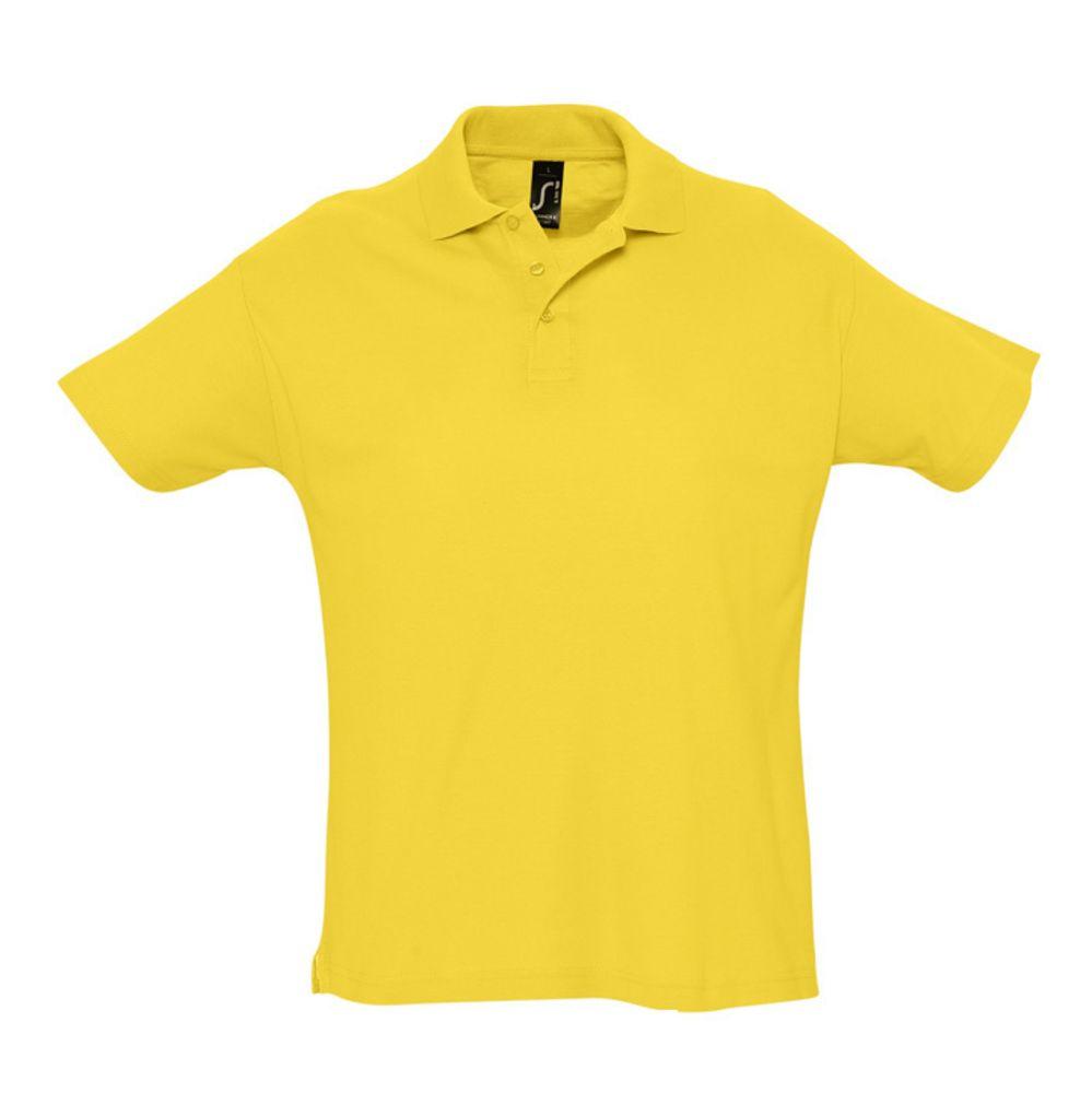 Рубашка поло мужская SUMMER 170 желтая, размер M