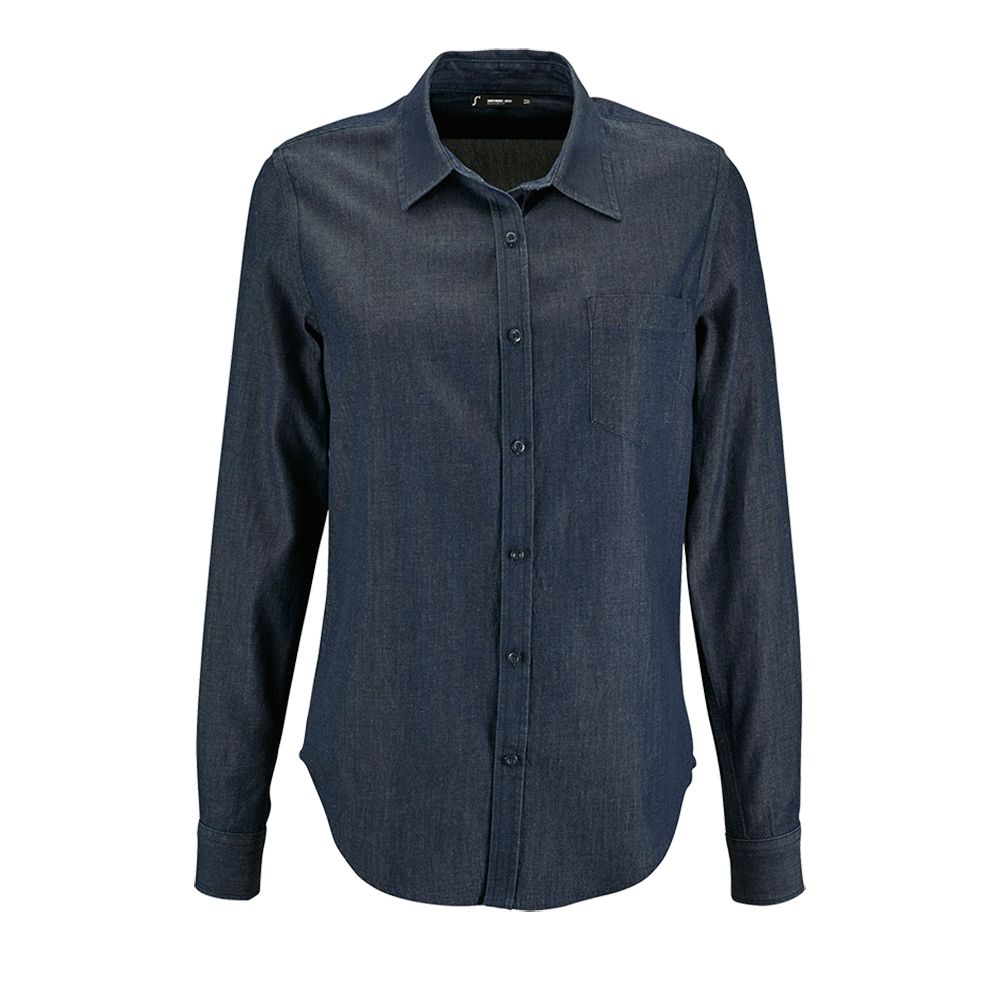 Рубашка женская BARRY WOMEN синяя (деним), размер L barry white barry white stone gon