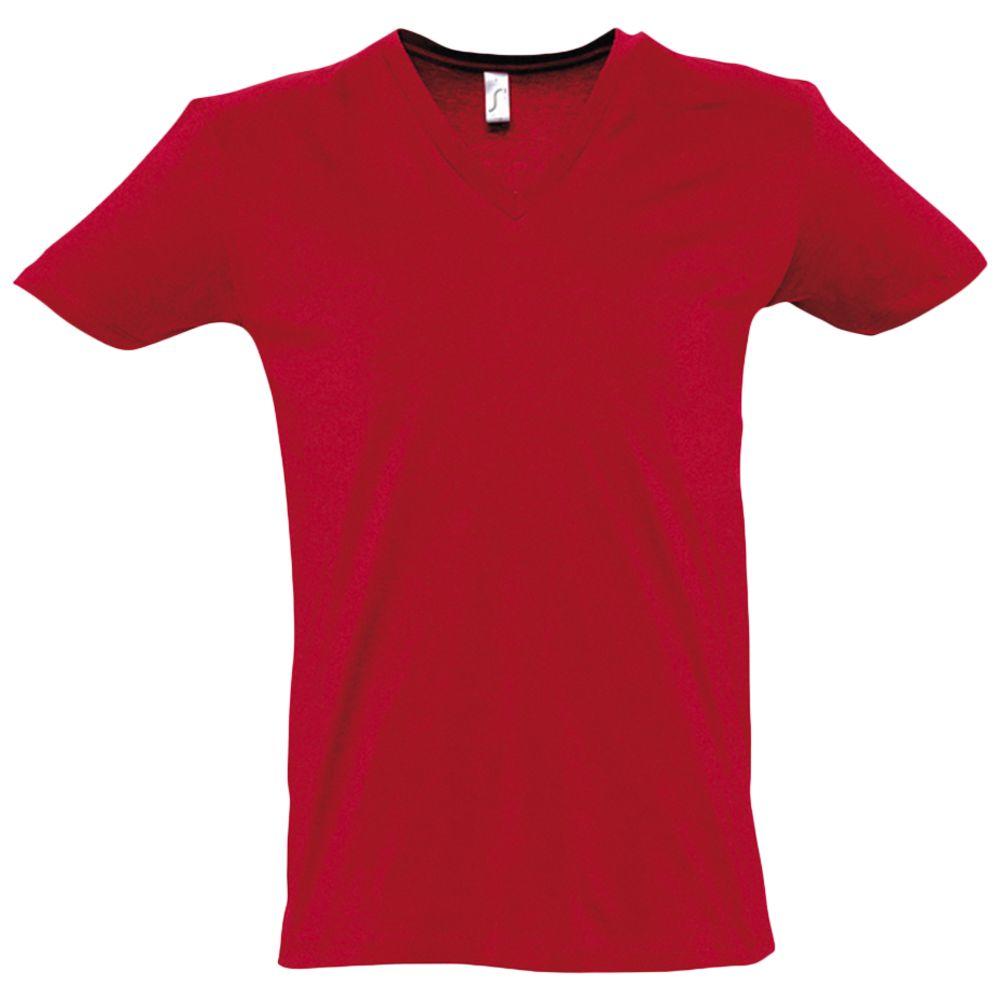 Футболка мужская с глубоким V-обр. вырезом MASTER 150 красная, размер XL футболка мужская с глубоким v обр вырезом master 150 красная размер m