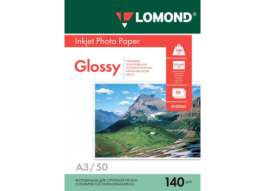 Фото - Lomond для струйной печати, A3, 140 г/м2, 50 листов, односторонняя, глянцевая (0102066) florentia фотоальбом кожаный 30х30 50 листов florentia al30637002