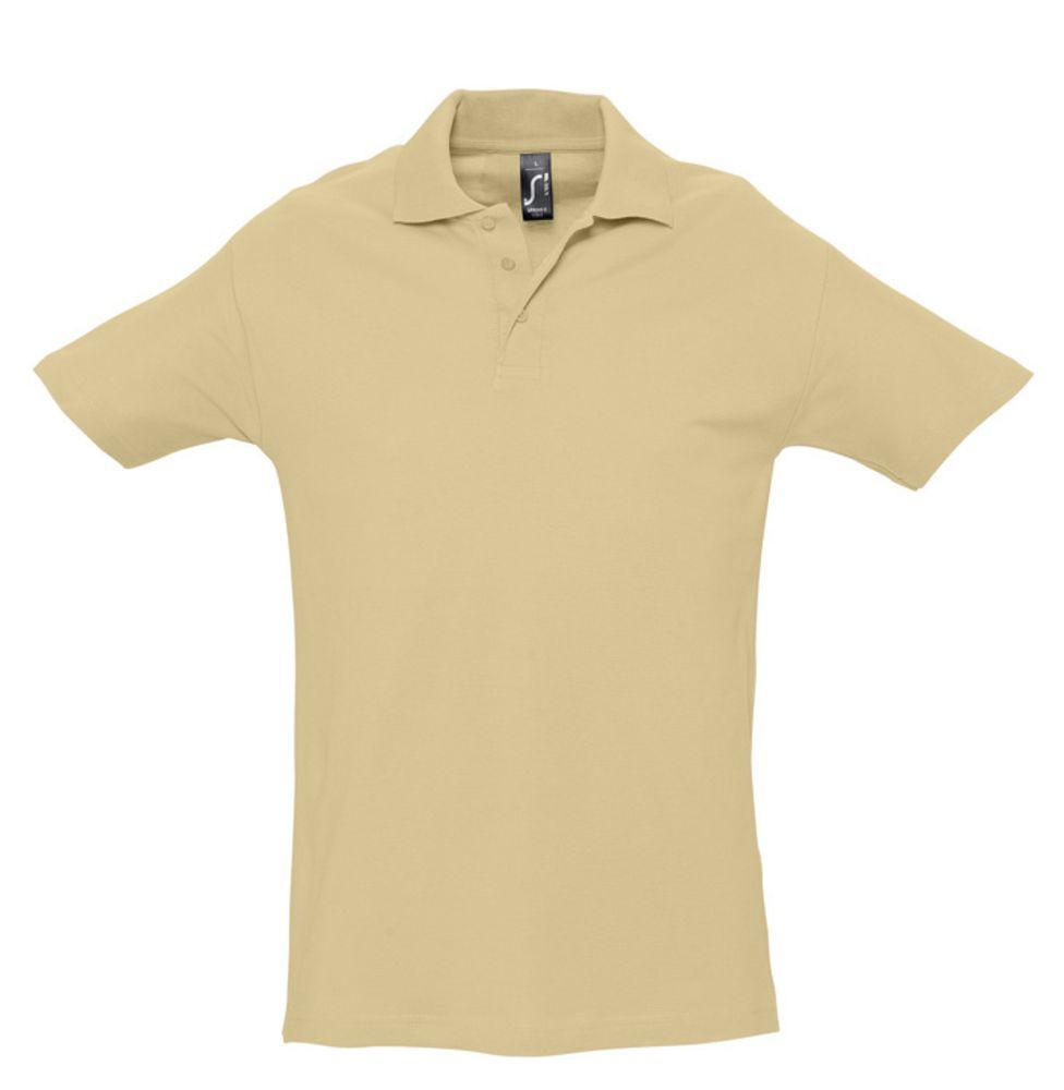 Рубашка поло мужская SPRING 210 бежевая, размер S