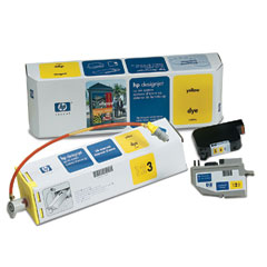 Картридж HP DesignJet CP Ink System Yellow (C1809A) good quality 4 with 4 bulk ink supply system ink tank supply system for mimaki roland mutoh eco solvent printer machine