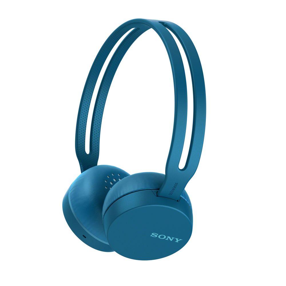 Фото - Беспроводные наушники Sony СН400, синие леггинсы domyos легинсы для кросс тренинга женские бесшовные черно синие 500