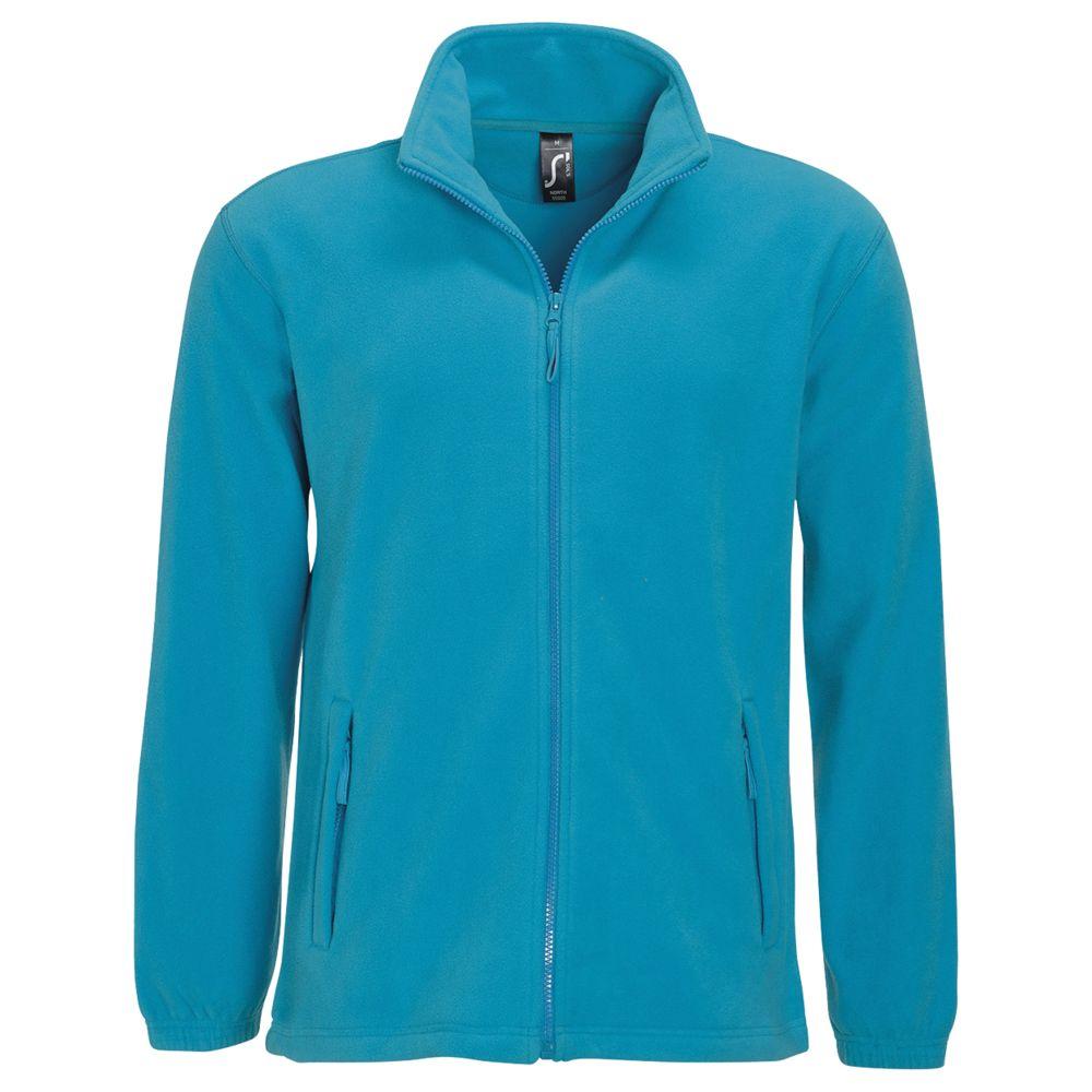 Куртка мужская North ярко-бирюзовая, размер XL фото