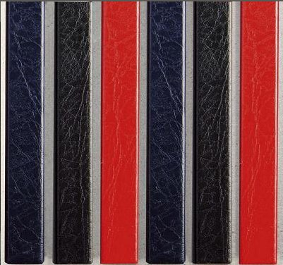Цветные каналы с покрытием «кожа» O.CHANNEL А5 217 мм Mini красные.