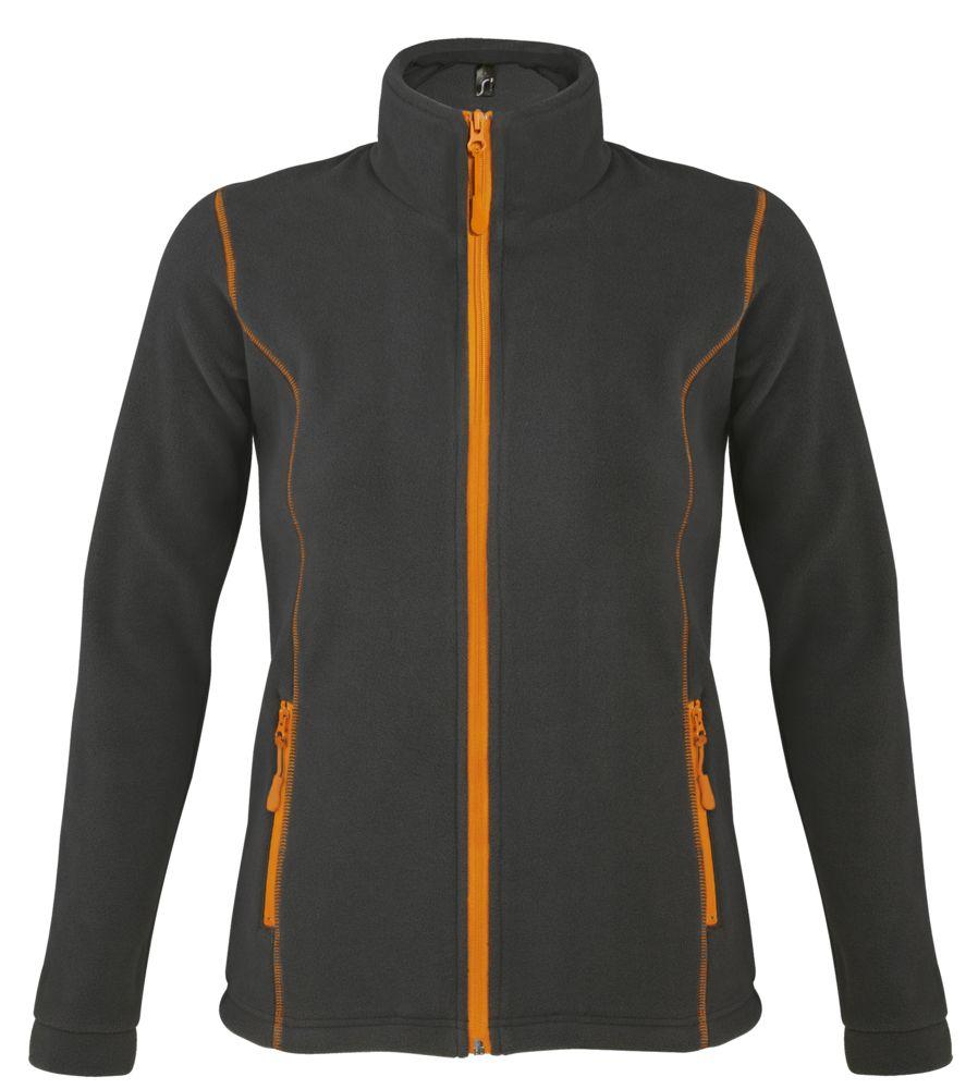 цена Куртка женская NOVA WOMEN 200, темно-серая с оранжевым, размер XL онлайн в 2017 году