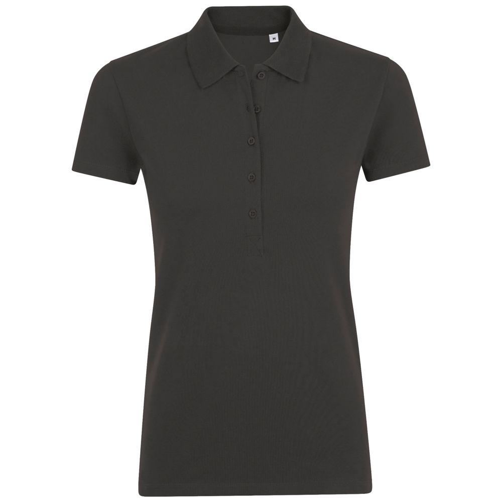 Рубашка поло женская PHOENIX WOMEN темно-серый меланж, размер XXL фото