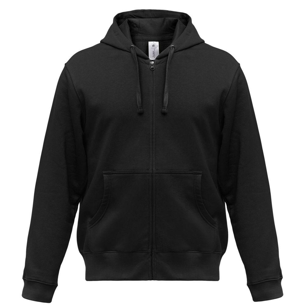 Толстовка мужская Hooded Full Zip черная, размер S