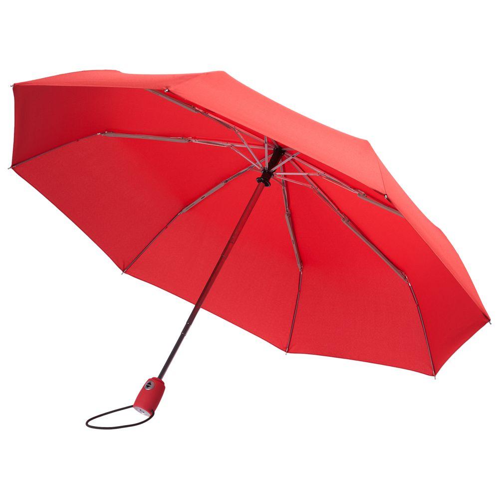 Зонт складной AOC, красный складной зонт magic с проявляющимся рисунком фиолетовый