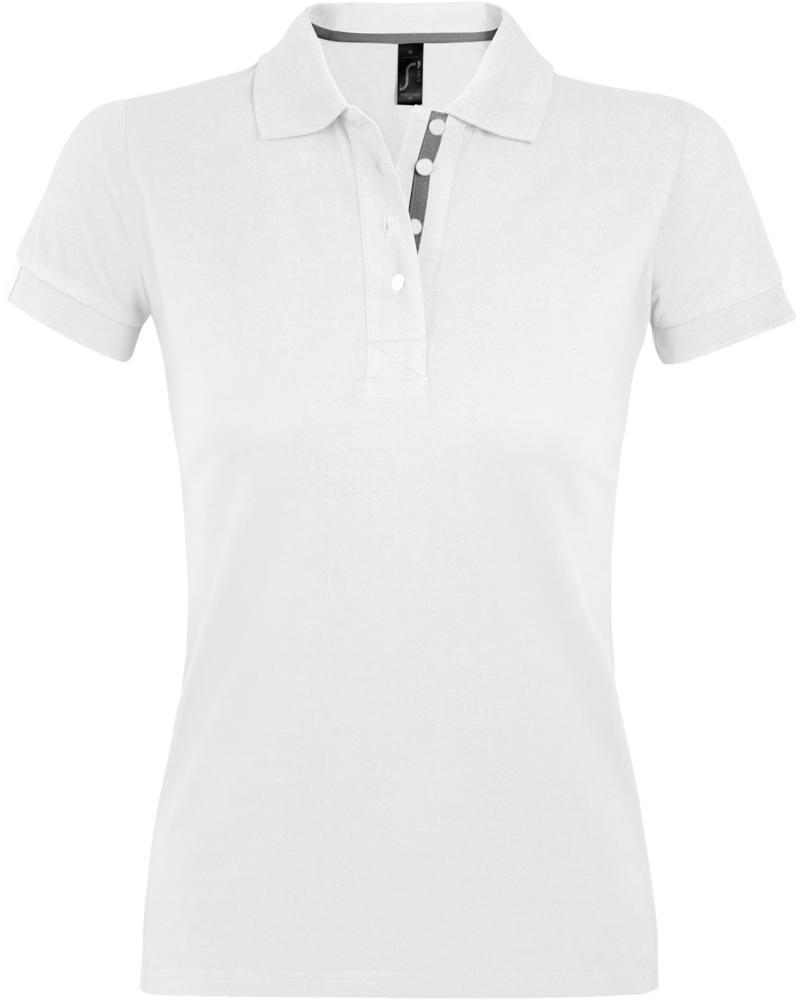 Рубашка поло женская PORTLAND WOMEN 200 белая, размер XL фото