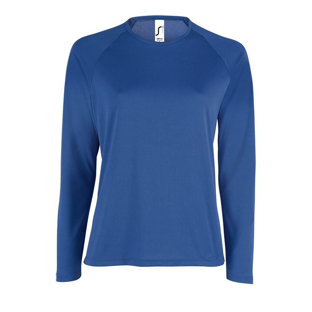 Футболка с длинным рукавом SPORTY LSL WOMEN ярко-синяя, размер L