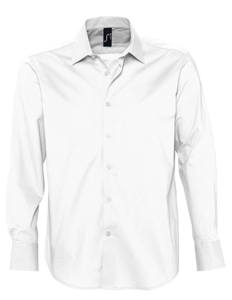 Рубашка мужская с длинным рукавом BRIGHTON белая, размер XL