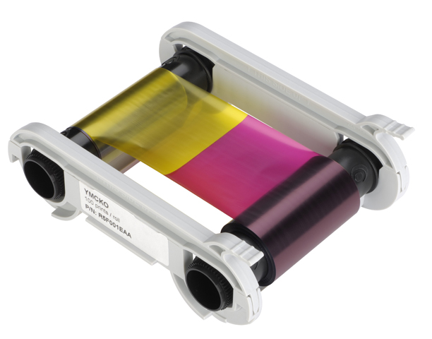 Полноцветная лента YMCKO R5F002EAA original evolis r3013 ymcko color ribbon for pebble dualys securion id card printer