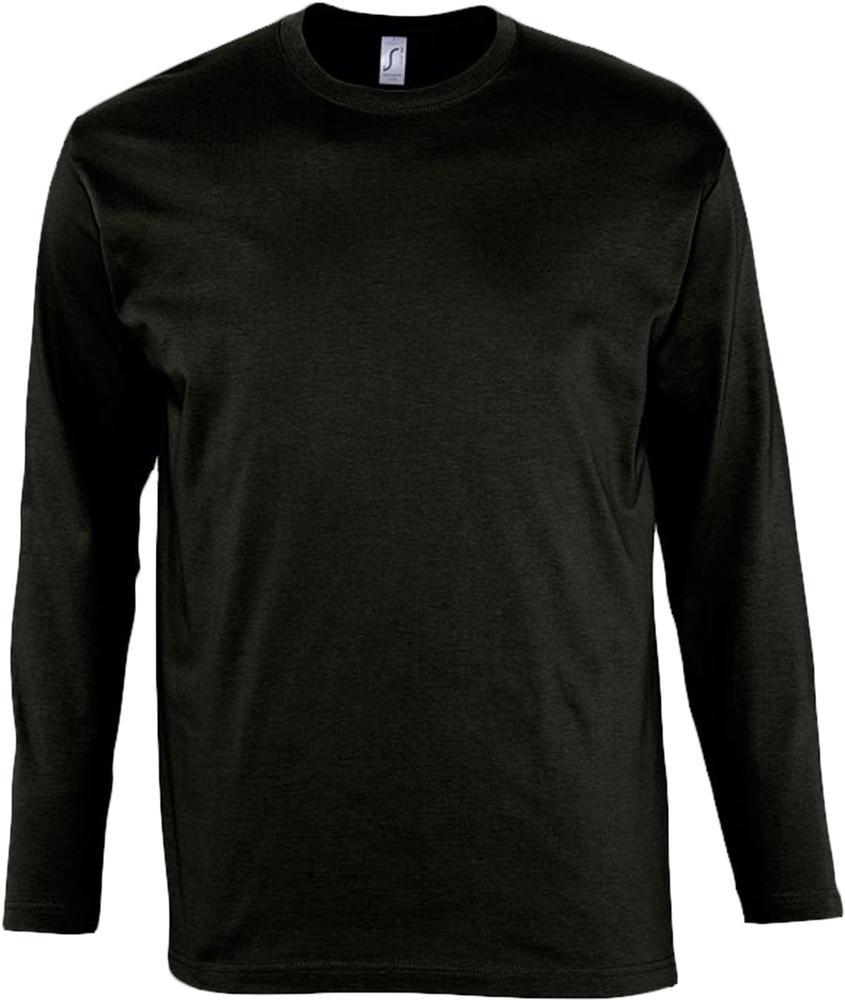 Футболка мужская с длинным рукавом MONARCH 150 черная, размер S недорого