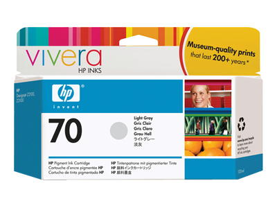 HP Vivera 70 Light Gray 130 мл (C9451A) картридж hp pigment ink cartridge 70 gray z3100 c9450a