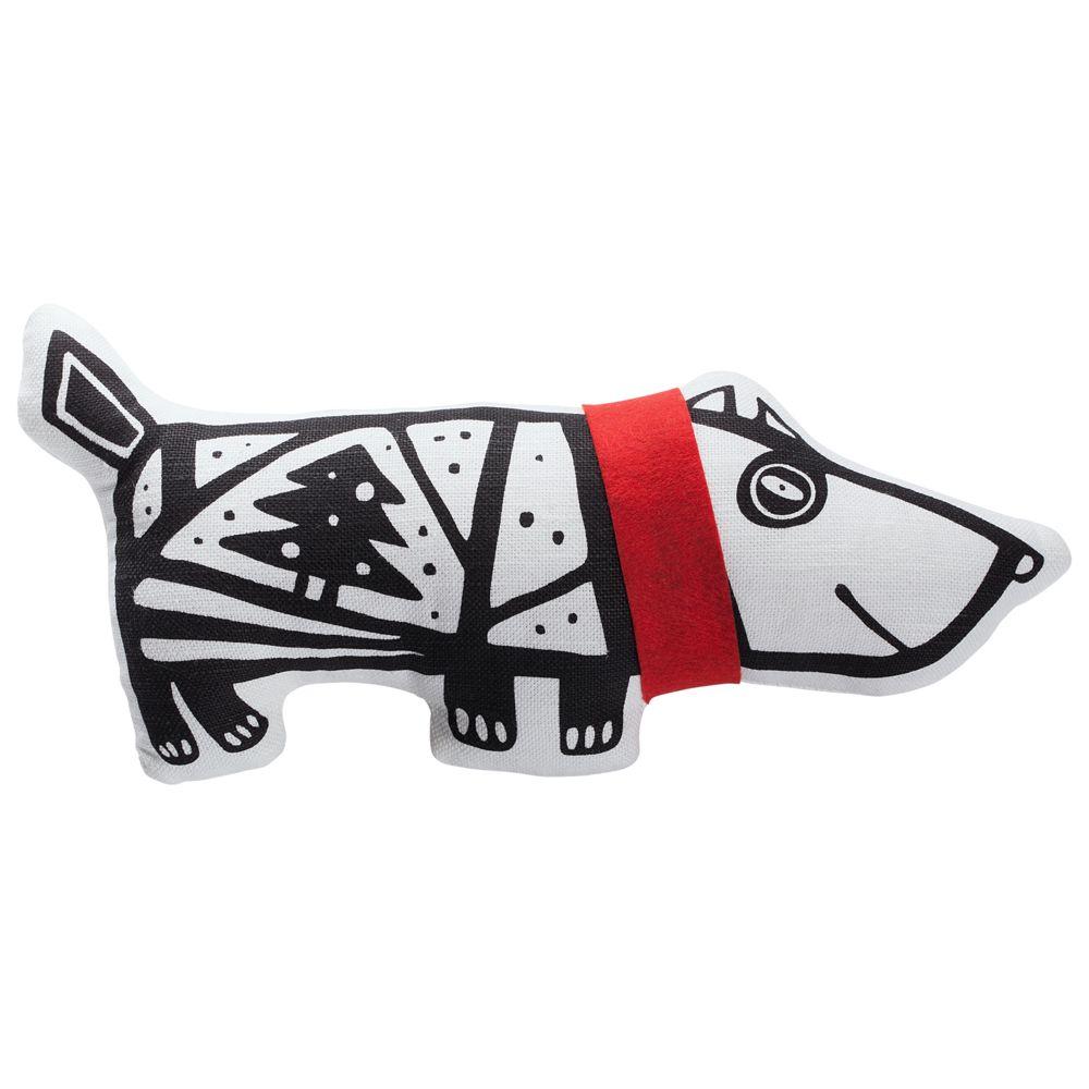 Игрушка «Собака в шарфе», большая, белая с красным татьяна соломатина большая собака