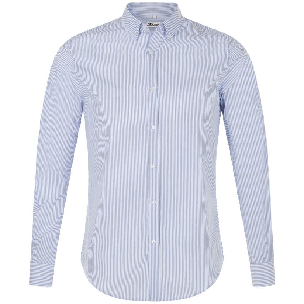 Рубашка мужская BEVERLY MEN, белая с синим, размер S
