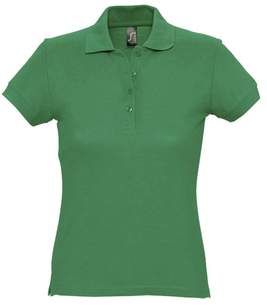 цена Рубашка поло женская PASSION 170 ярко-зеленая, размер XL онлайн в 2017 году