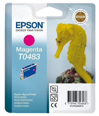 Картридж с пурпурными чернилами Epson T0483 для R200, R300 (C13T04834010)