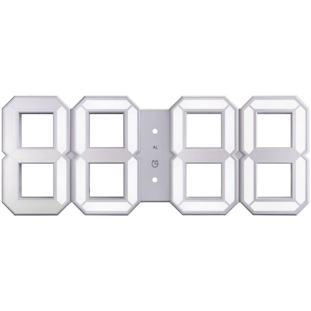 Часы настенные White & White Clock, белые фото